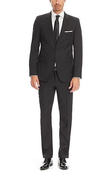 'The James/Sharp'   Regular Fit, Super 120 Italian Virgin Wool Suit, Black