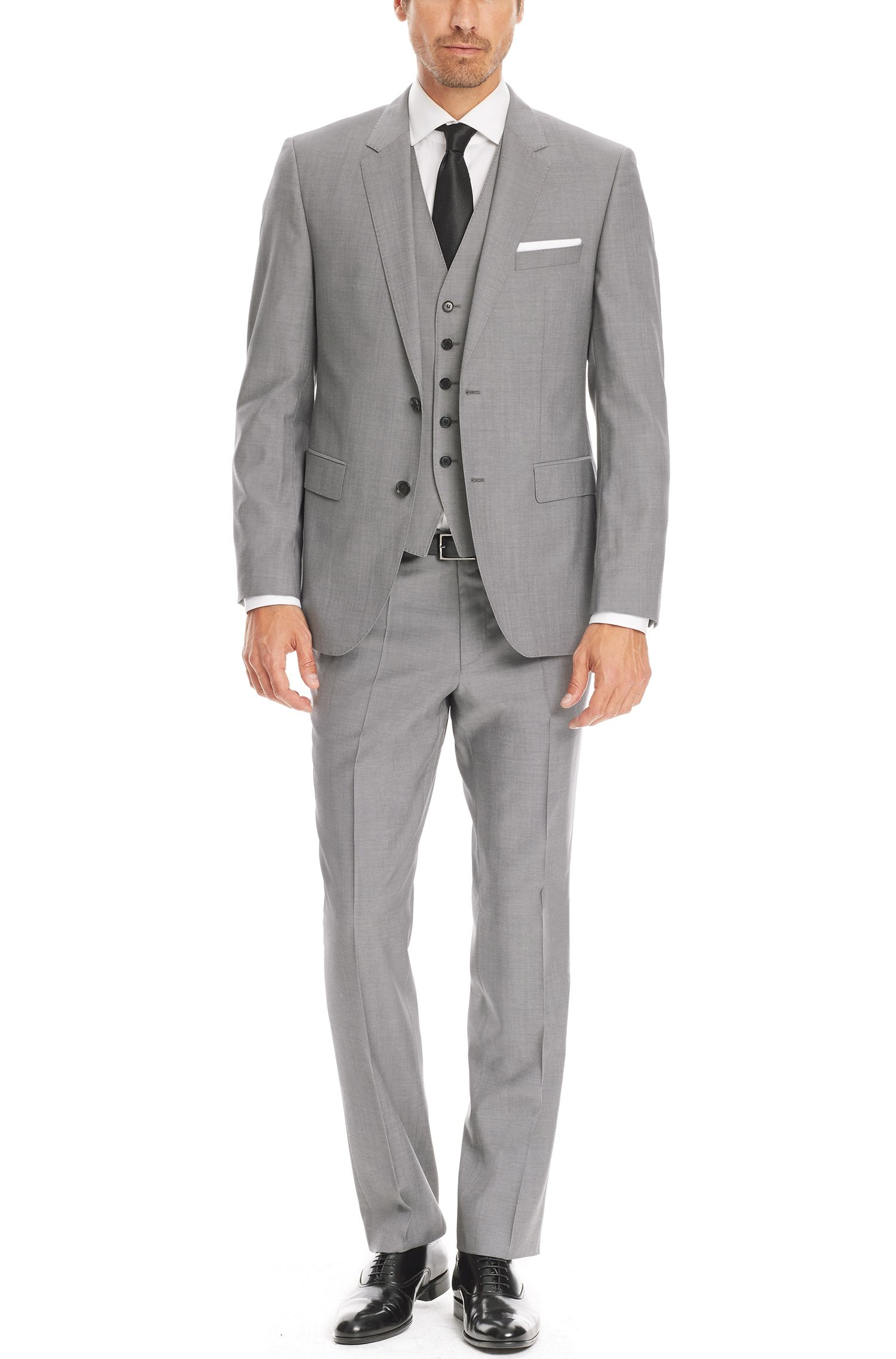 'The James/Sharp' | Regular Fit, Super 120 Italian Virgin Wool Suit