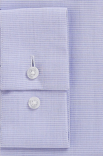 'EastonX' | Slim Fit, Modified Spread Collar Cotton Dress Shirt, Purple