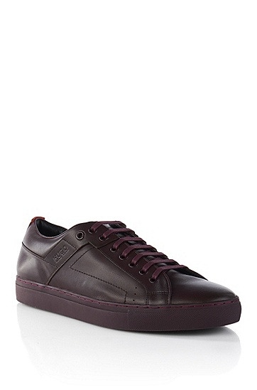 'Futesio' | Leather Sneakers, Dark Red