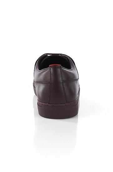 'Futesio' | Leather Sneakers, Dark Red