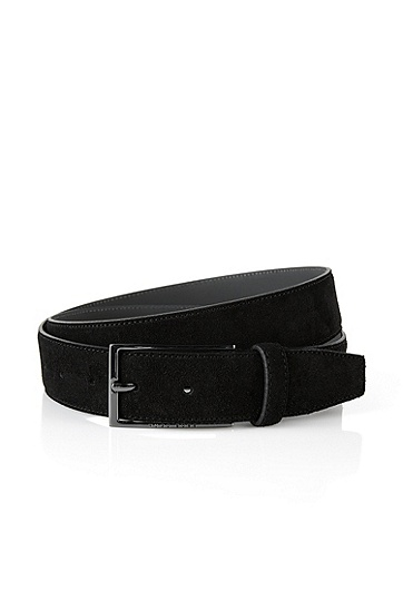 'Calindo' | Suede Belt, Black
