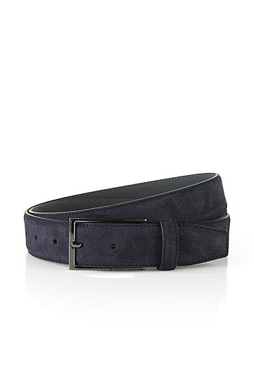 'Calindo' | Suede Belt, Dark Blue