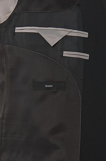 'Huge/Genius' | Slim Fit, Stretch Virgin Wool Suit, Black