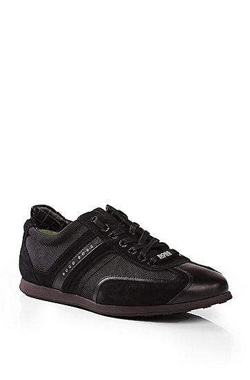'Stiven' | Suede Trim Sneakers , Black