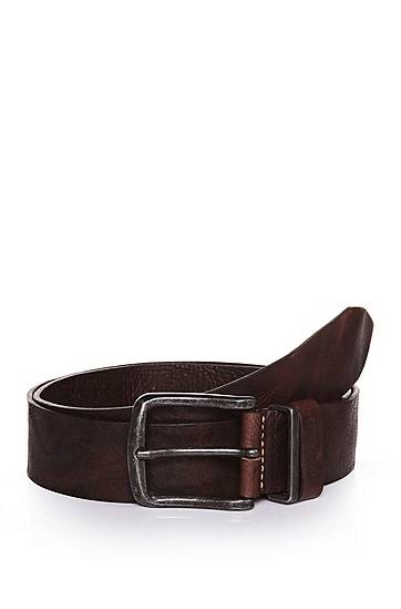 'Jeppo' | Italian Leather Belt, Dark Brown