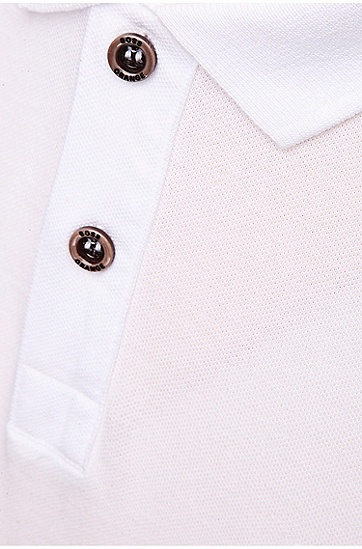'Pascha' | Slim Fit, Cotton Polo Shirt, White