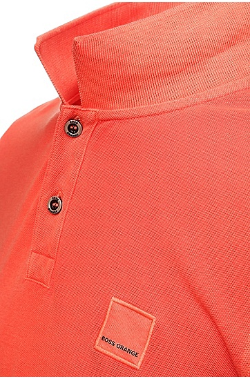 'Pascha' | Slim Fit, Cotton Polo Shirt, Red