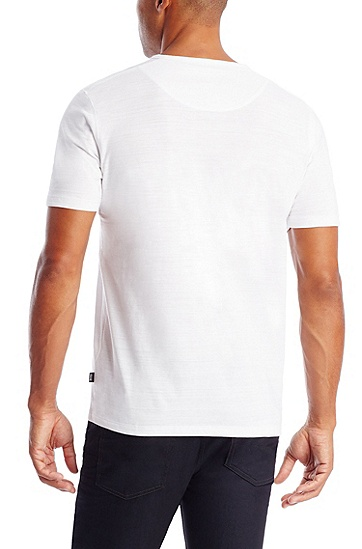 'Eraldo ' | Pima Cotton V-Neck T-Shirt, White