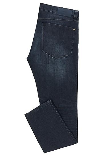'HUGO 708' | Slim Fit, 10.75 oz Stretch Cotton Jeans, Dark Blue