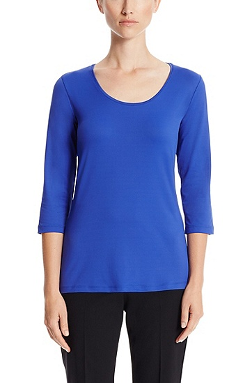 'E4967' | Stretch Blouse, Blue