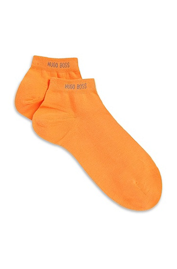 'Marc Sneaker Col. US ' | Stretch Cotton Ankle Socks, Orange