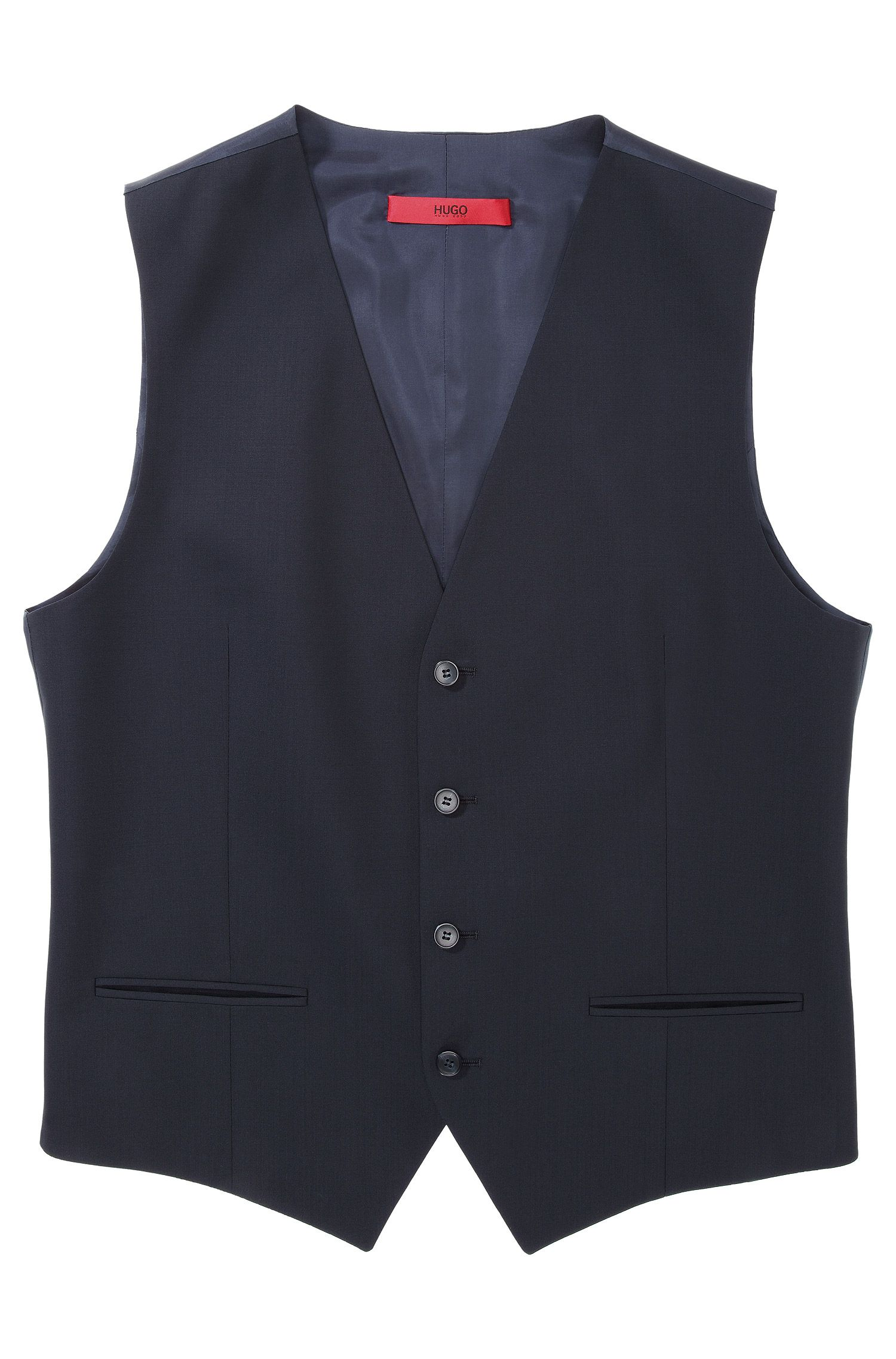 'Wel' | Slim Fit, Stretch Virgin Wool Vest