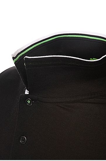 'Paddy Pro' | Modern Fit, Moisture Manager Stretch Cotton Blend Polo Shirt, Black