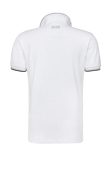 'Paddy Pro' | Modern Fit, Moisture Manager Stretch Cotton Blend Polo Shirt, White