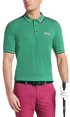 'Paddy Pro' | Modern Fit, Moisture Manager Stretch Cotton Blend Polo Shirt, Green