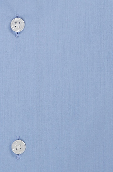 'Gerald' | Regular Fit, Spread Collar Easy Iron Cotton Dress Shirt, Blue