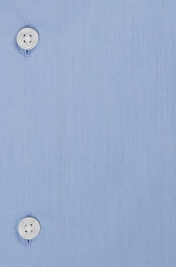 'Gerald' | Regular Fit, Spread Collar Easy Iron Cotton Dress Shirt, Blue