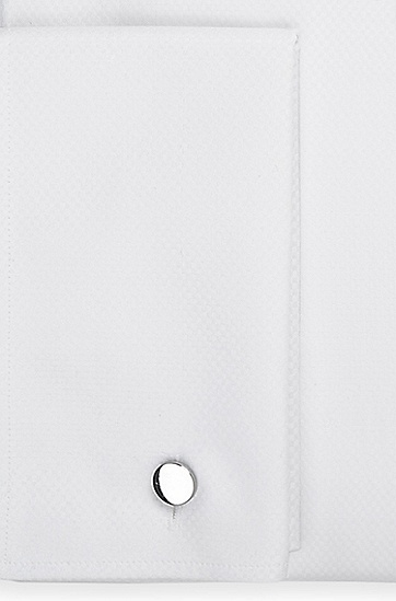 'Gale' | Regular Fit, Spread Collar Cotton French Cuff Dress Shirt, White