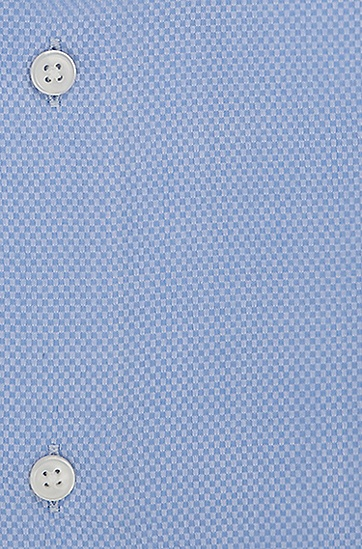 'Gale' | Regular Fit, Spread Collar Cotton French Cuff Dress Shirt, Light Blue