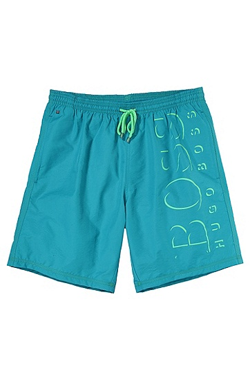 'Killifish' | Quick Dry Logo Board Shorts, Open Blue