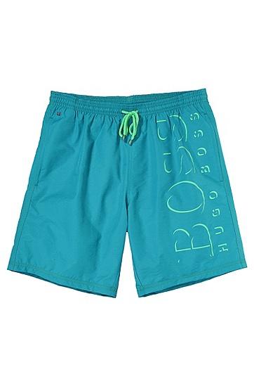 'Killifish' | Quick Dry Logo Board Shorts, Open Blue