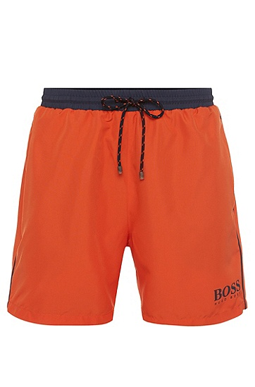 'Starfish' | Quick Dry Swim Trunks, Open Orange
