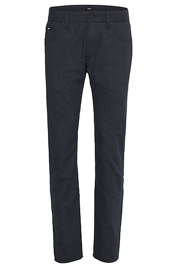 'Maine' | Regular Fit, Straight Leg 13.8 oz Cotton Blend Chinos, Dark Blue