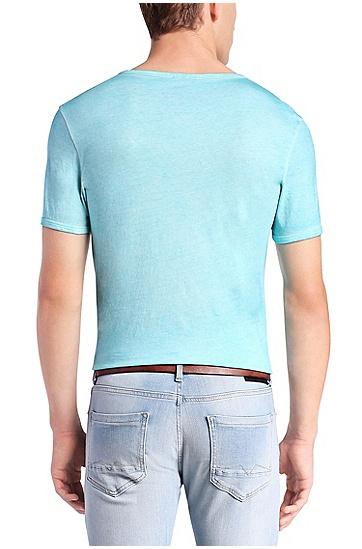 'Toulouse' | Cotton V-Neck T-Shirt, Turquoise