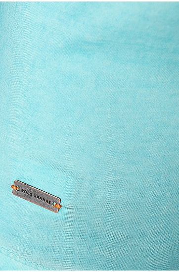 'Toulouse' | Cotton V-Neck T-Shirt, Turquoise