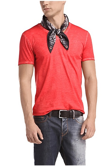 'Toulouse' | Cotton V-Neck T-Shirt, Red