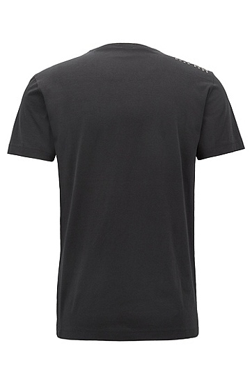 'Teevn' | Cotton V-Neck T-Shirt, Black