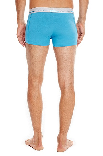 'Boxer Logo' | Stretch Cotton Trunks, Turquoise