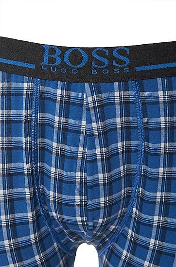 'Long John'   Stretch Cotton Long Johns, Open Blue