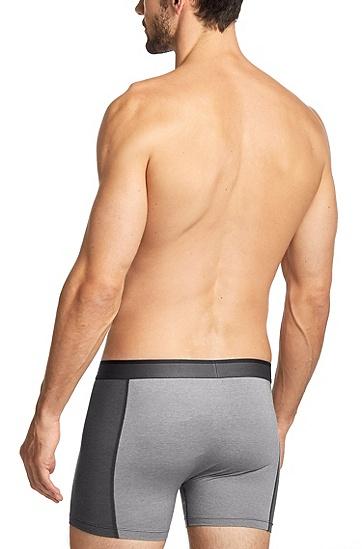'Cyclist R Cool CO' | Stretch Cotton Blend Boxer Briefs, Charcoal