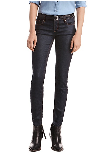'Lunja Deep Blue Sea' | Slim Fit, 9 oz Stretch Cotton Jeans, Dark Blue