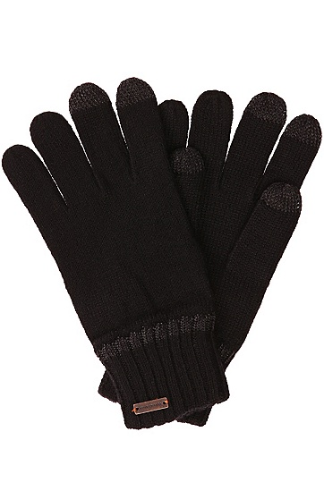'Graas' | Wool-Blend Touch Screen Gloves, Black