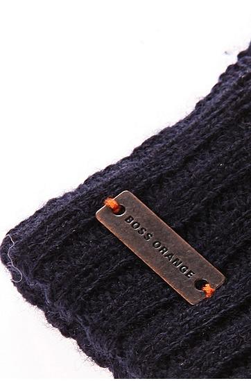 'Graas' | Wool-Blend Touch Screen Gloves, Dark Blue