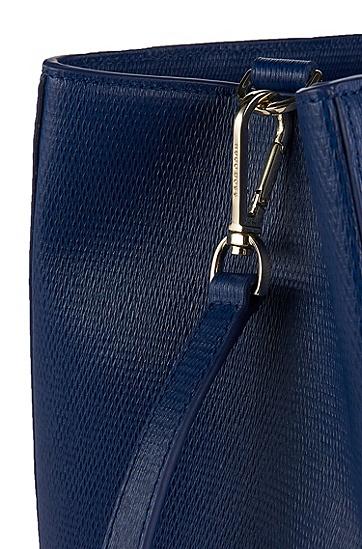 'Malia-F'   Leather Handbag with Detachable Shoulder Strap , Blue