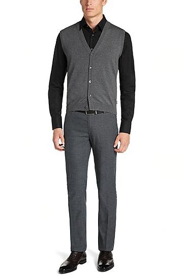 'Medrick-D'   Merino Wool Sweater Vest, Grey