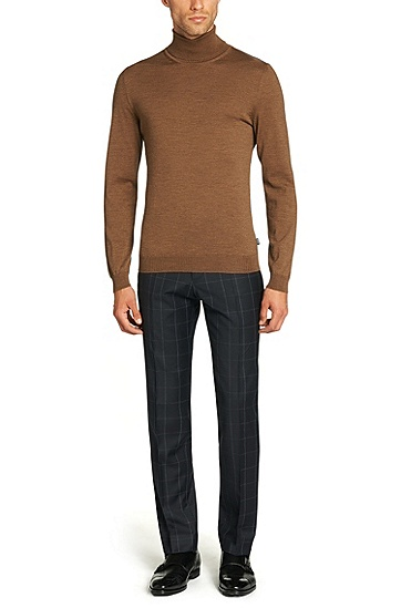 'Musso-D' | Virgin Wool Turtleneck Sweater, Beige