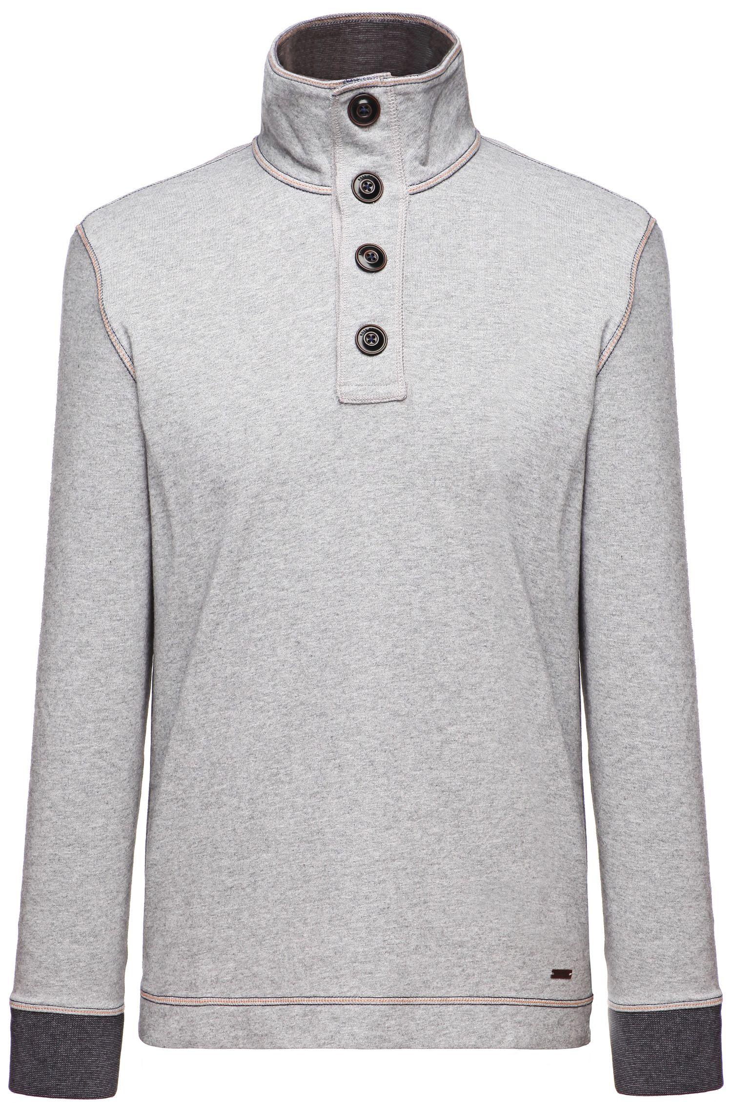 'Whoosh' | Cotton Troyer Collar Sweatshirt