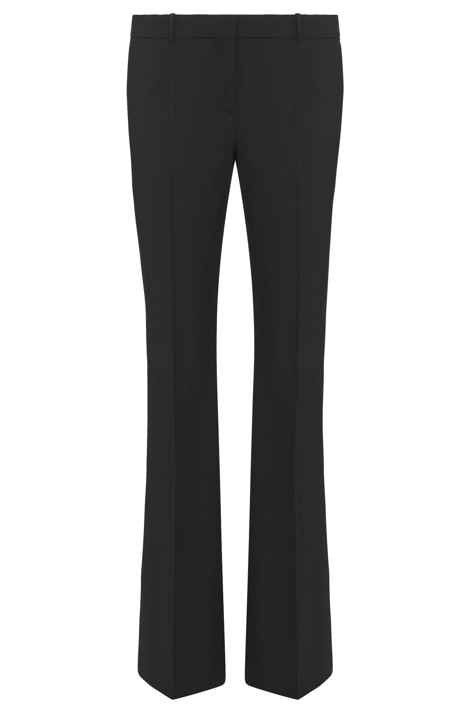 'Tulea Front Zip' | Stretch Virgin Wool Boot Cut Dress Pants