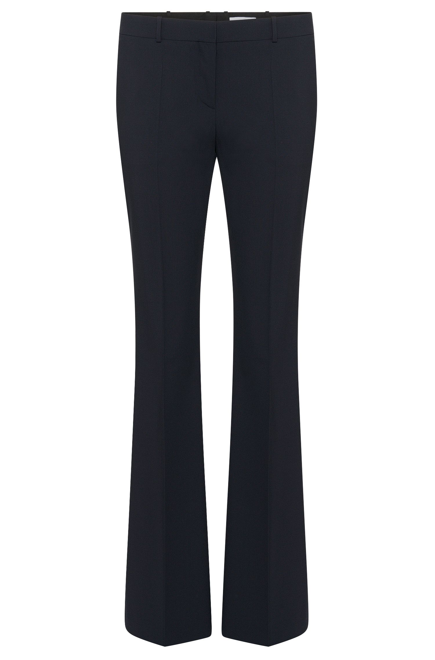'Tulea Front Zip' | Stretch Virgin Wool Boot Cut Dress Pants