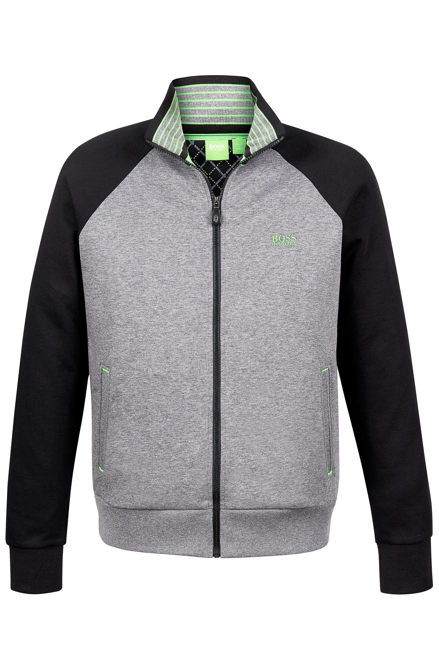 'Skoz US' | Cotton Blend Terry Zip-Up Sweatshirt
