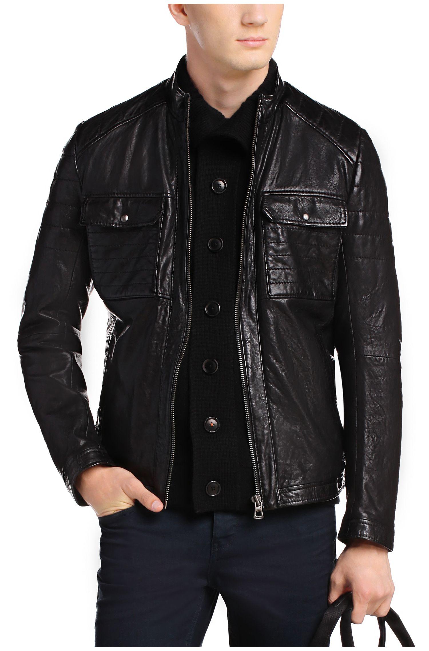hugo boss ladies leather jacket. Black Bedroom Furniture Sets. Home Design Ideas