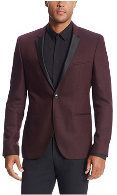 'Adrison' | Extra Slim Fit, Virgin Wool Sport Coat, Dark Red