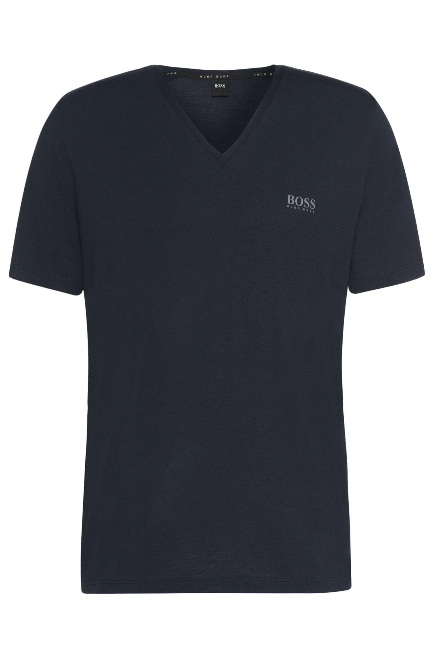 'Shirt VN SS' | Stretch Modal V-Neck T-Shirt