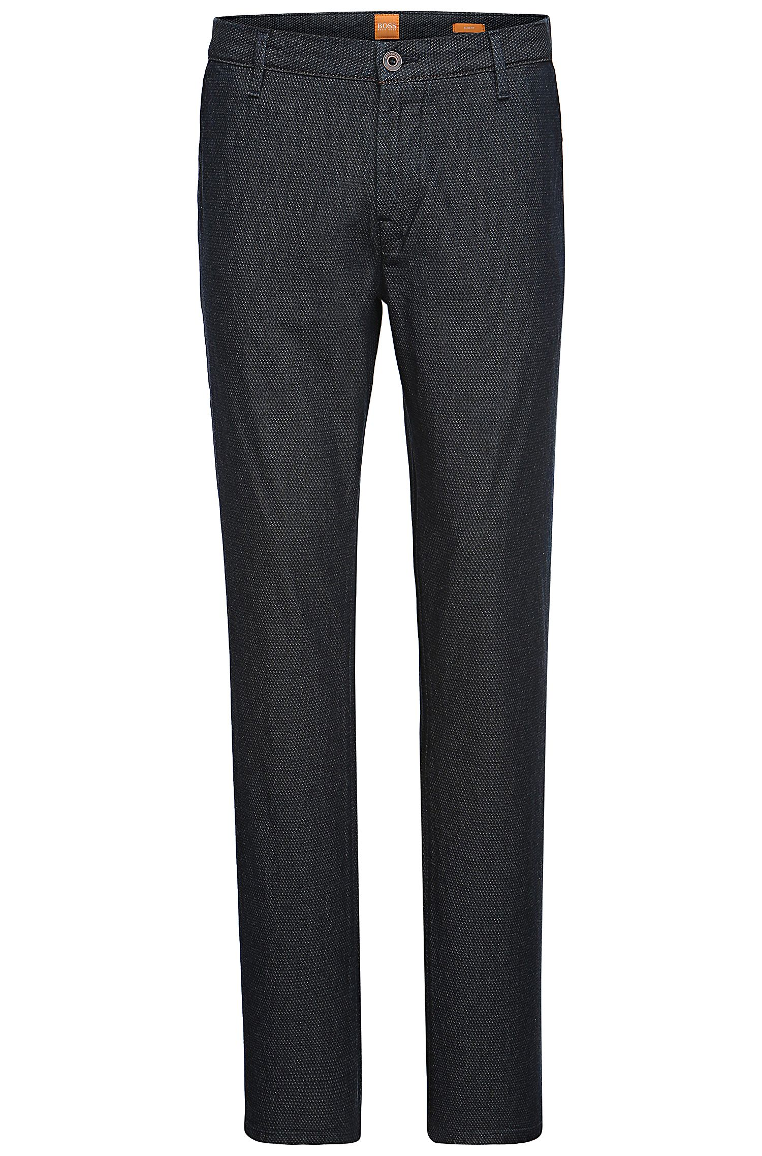'Sairy-W' | Slim Fit, Stretch Cotton Textured Chinos