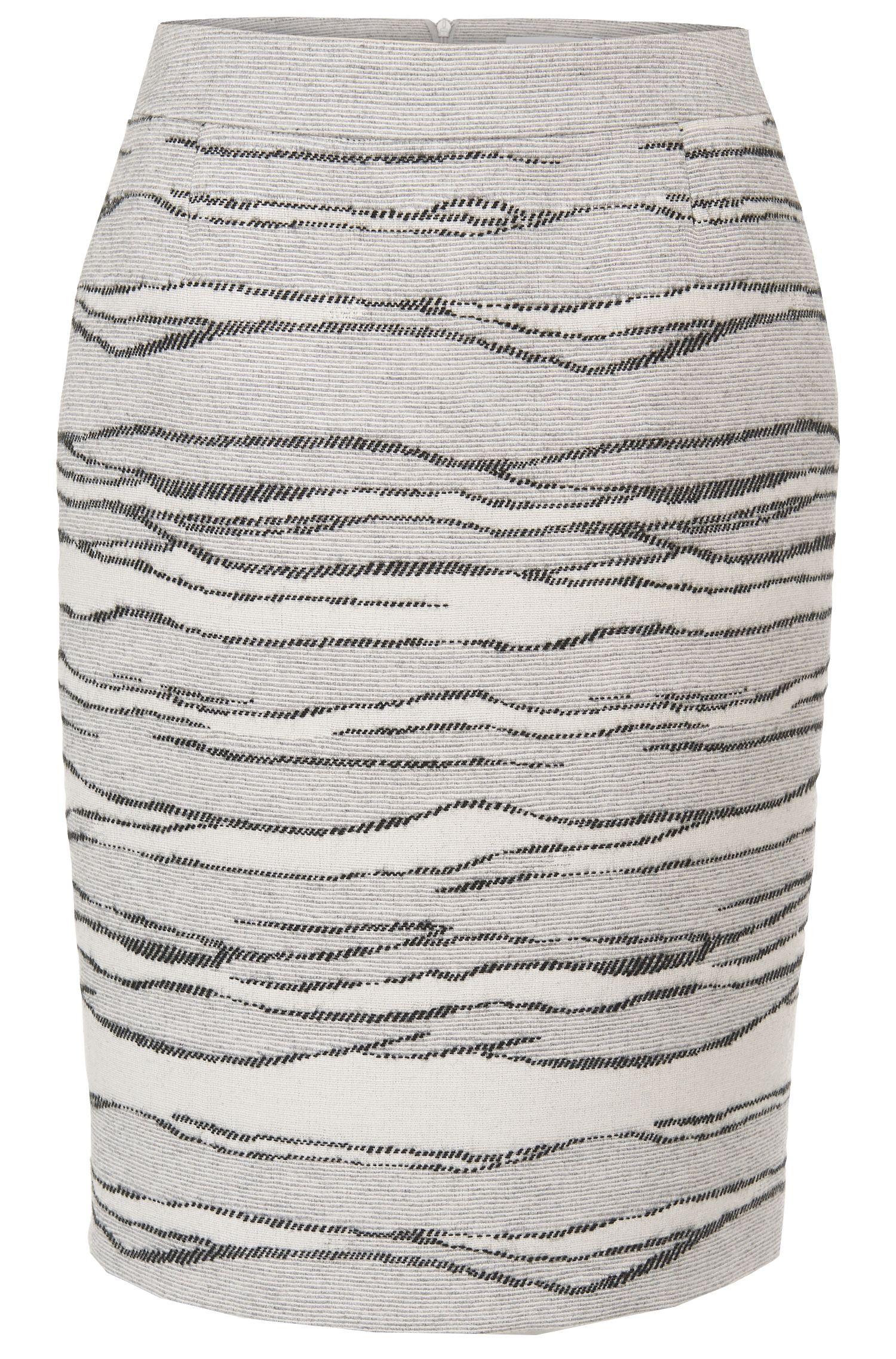 'Vanida'   Wool Silk Blend Pencil Skirt
